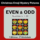 Even and Odd - Color By Number - Christmas Emoji Mystery Pictures
