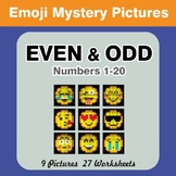 Even and Odd - Color By Number - Emoji Mystery Pictures