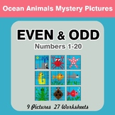 Even and Odd - Color By Number - Ocean Animals Mystery Pictures