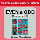 Even and Odd - Color By Number - Valentine's Day Mystery Pictures