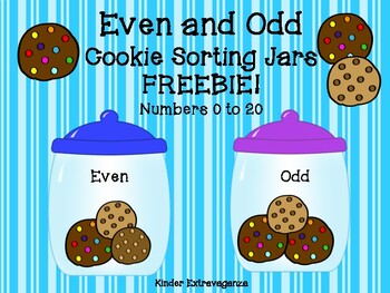 Even and Odd Cookie Sorting Jars FREEBIE!