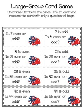 Even and Odd Differentiated Activity Packet