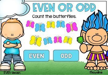 Even and Odd Task Cards Digital BOOM Cards for 2nd