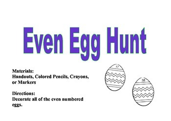 Even and Odd Egg Hunt