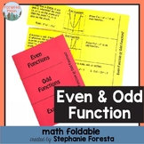Even and Odd Function Foldable