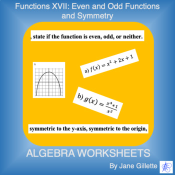 Even And Odd Functions Worksheets & Teaching Resources | TpT