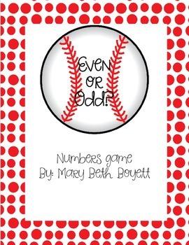 Even and Odd Game Baseball