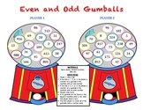 Even and Odd Gumballs - A Game to Practice Identifying Even and Odd Numbers