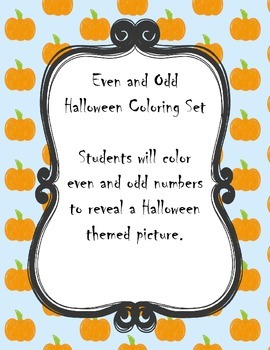 Even and Odd Halloween Mystery Picture
