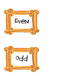 Even and Odd Halloween Number Sort
