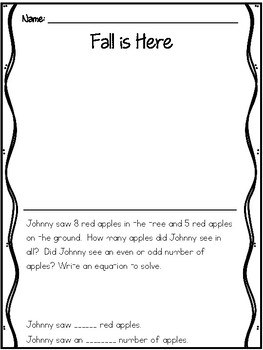 Even and Odd - Johnny Apple Seed - Story Math