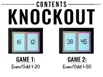 Even and Odd KNOCKOUT