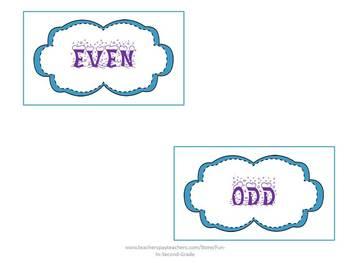Even and Odd Math Center Activity