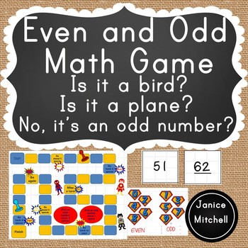 Even and Odd Math Game-Numbers 51-100 Kindergarten to Grade 3