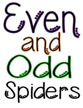 Even and Odd Math Spiders