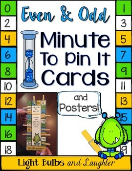 Even and Odd Minute To Pin It Cards & Posters