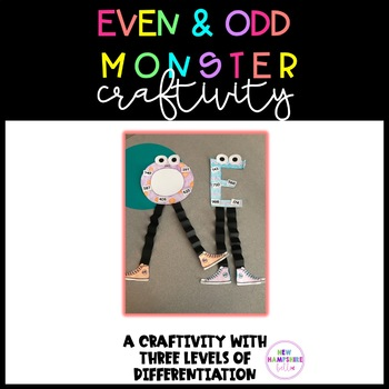Even and Odd Monster Craftivity
