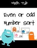 Even or Odd Number Sort