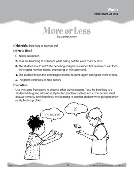 Even and Odd/More or Less (Ten-Minute Activities)