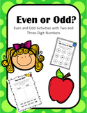 Even and Odd Number Activities