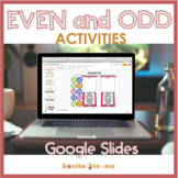 Even and Odd Number Activities Google Slide Distance Learning