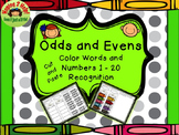 Even and Odd Number  Cut and Paste Activity
