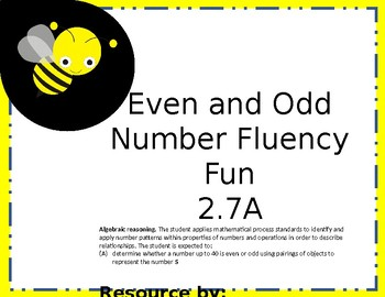 Even and Odd Number Fluency