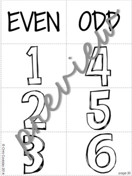 Even and Odd Number Poster