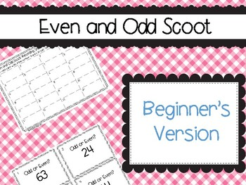 Even and Odd Number Scoot- Beginner's Version