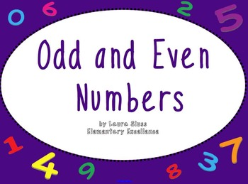 Even and Odd Number Sense INTERACTIVE Smartboard Lesson an