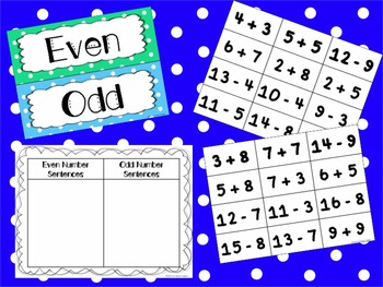 Even and Odd Number Sentence Sort