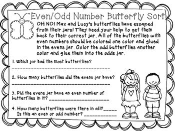Even and Odd Number Sort {Butterfly theme}