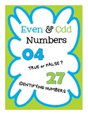 Even and Odd Number Worksheets, Assessment and Activities for Kids