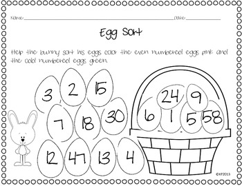 Even and Odd Numbered Eggs
