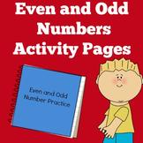 Odd and Even Numbers | Kindergarten 1st 2nd Grade | Worksheet Activities