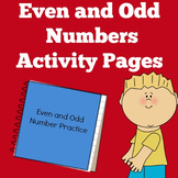 Odd and Even Numbers   Kindergarten 1st 2nd Grade   Worksh