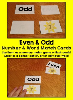 Even and Odd Numbers Activity