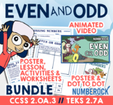 Even and Odd Numbers ★ 2nd Grade Activities Mega Bundle ★