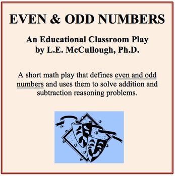 Even and Odd Numbers - A Math Play