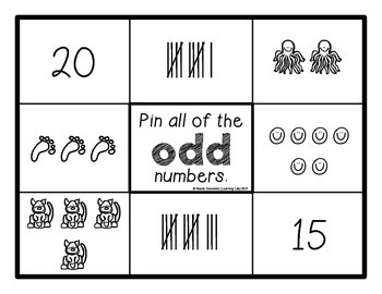 Even and Odd Numbers - Self-Checking Math Centers