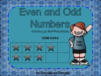 Even and Odd Numbers- Activities for Math Workstations (aligned with CCSS)