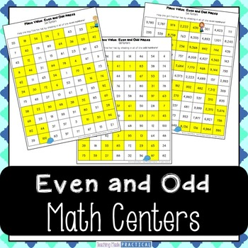 Even and Odd Numbers Activity - Math Center