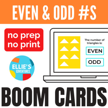 Even and Odd Numbers Boom Cards
