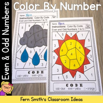 Even And Odd Numbers Color By Freebie