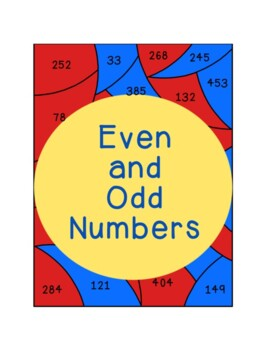 Even and Odd Numbers Coloring Pages Posters Parity