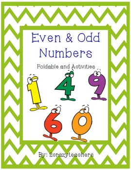 Even and Odd Numbers Foldable and Activities