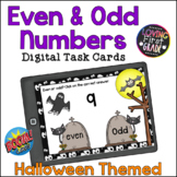 Even and Odd Numbers: Halloween BOOM Cards™ Distance Learning