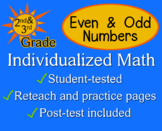 Even and Odd Numbers, 2nd / 3rd grade - worksheets - Individualized Math