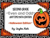 Even and Odd Numbers Math Centers -Halloween Themed