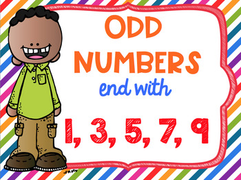 Even and Odd Numbers Poster Anchor Chart FREEBIE